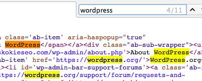 find wordpress